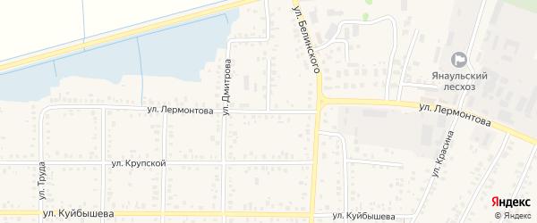 Улица Лермонтова на карте Янаула с номерами домов