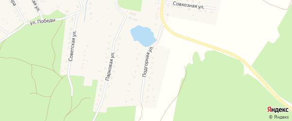 Подгорная улица на карте села Благовара с номерами домов