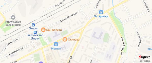 Улица Победы на карте Янаула с номерами домов