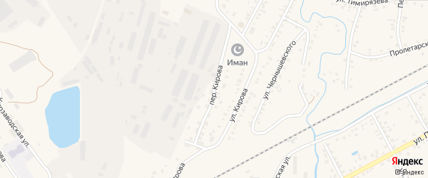 Переулок Кирова на карте Янаула с номерами домов