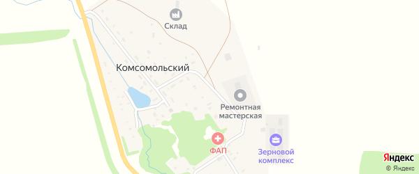Школьная улица на карте села Комсомольского с номерами домов