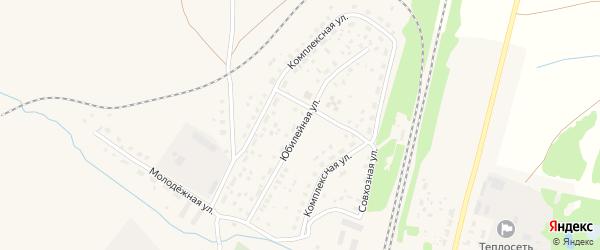 Юбилейная улица на карте села Раевского с номерами домов