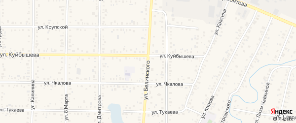 Улица Белинского на карте Янаула с номерами домов