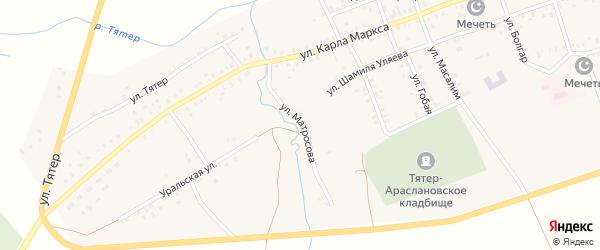 Улица А.Матросова на карте села Тятер-Арасланово с номерами домов