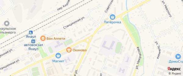Советская улица на карте Янаула с номерами домов