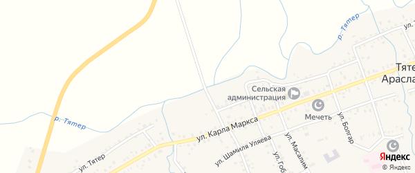 Улица М.Джалиля на карте села Тятер-Арасланово с номерами домов