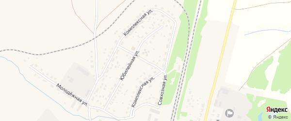 Совхозная улица на карте села Раевского с номерами домов