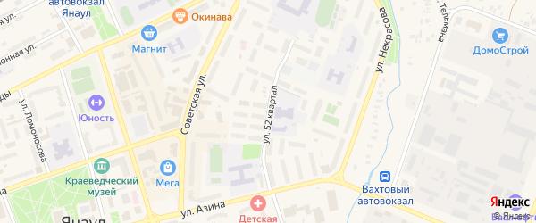 52-й квартал на карте Янаула с номерами домов