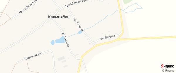 Улица Ленина на карте деревни Калмиябаша с номерами домов
