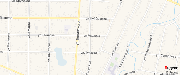 Февральская улица на карте Янаула с номерами домов