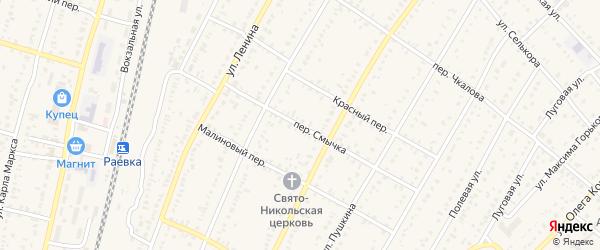Переулок Смычка на карте села Раевского с номерами домов