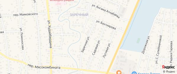 Заречная улица на карте Янаула с номерами домов