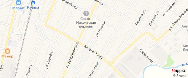 Улица Пушкина на карте села Раевского с номерами домов