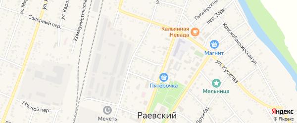 Переулок Гоголя на карте села Раевского с номерами домов