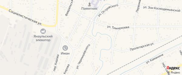 Улица Чернышевского на карте Янаула с номерами домов