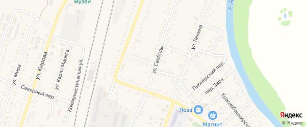 Переулок Гайдыма на карте села Раевского с номерами домов