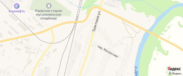 Трактовая улица на карте села Раевского с номерами домов