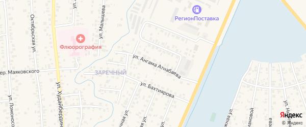 Улица А.Атнабаева на карте Янаула с номерами домов