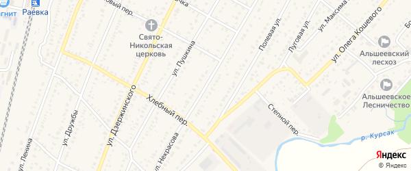 Улица Некрасова на карте села Раевского с номерами домов