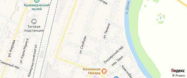 Давлекановский переулок на карте села Раевского с номерами домов