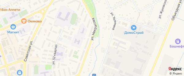Улица Некрасова на карте Янаула с номерами домов