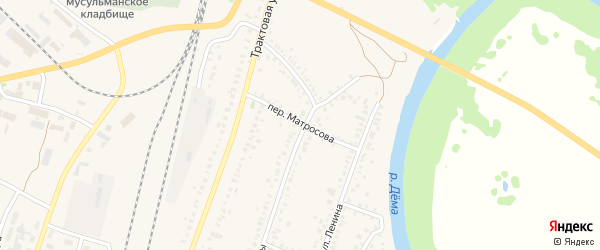 Переулок Матросова на карте села Раевского с номерами домов
