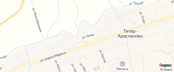 Улица Тятер на карте села Тятер-Арасланово с номерами домов