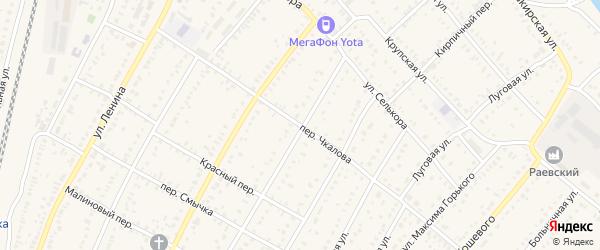 Переулок Чкалова на карте села Раевского с номерами домов