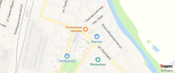 Улица Кускова на карте села Раевского с номерами домов