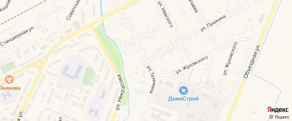 Улица Тельмана на карте Янаула с номерами домов