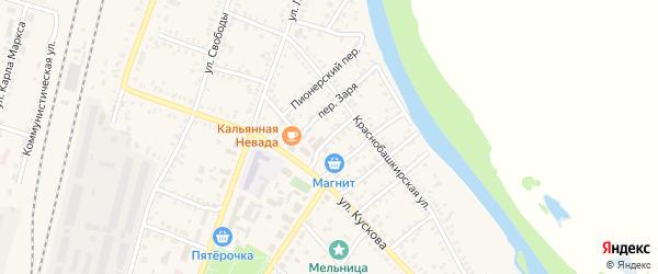 Переулок Тимура на карте села Раевского с номерами домов