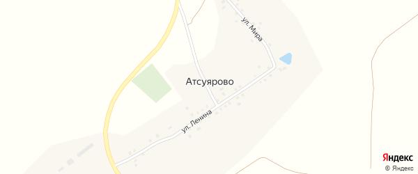 Улица Мира на карте деревни Атсуярово с номерами домов