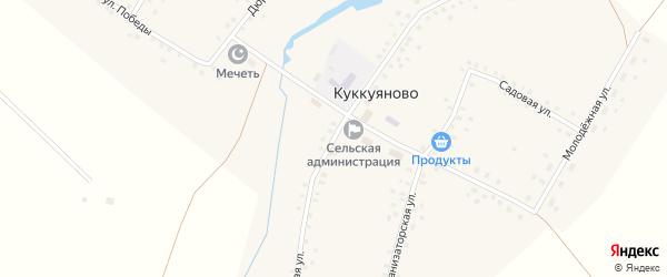 Школьная улица на карте села Куккуяново с номерами домов