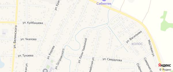 Улица Л.Чайкиной на карте Янаула с номерами домов