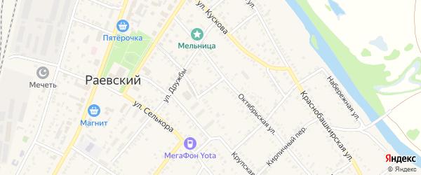 Крестьянский переулок на карте села Раевского с номерами домов