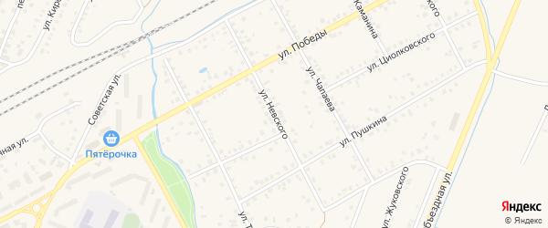 Улица А.Невского на карте Янаула с номерами домов