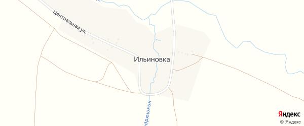 Центральная улица на карте деревни Ильиновка с номерами домов