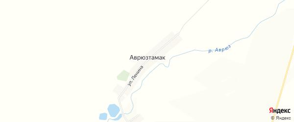 Карта деревни Аврюзтамака в Башкортостане с улицами и номерами домов