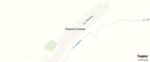 Улица Ленина на карте деревни Аврюзтамака с номерами домов