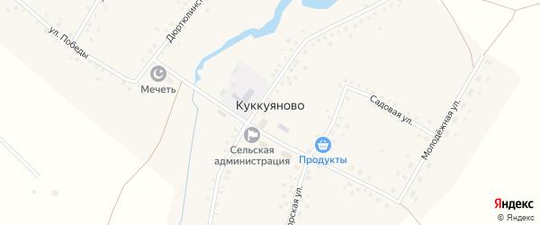 Садовая улица на карте села Куккуяново с номерами домов