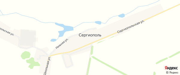 Карта деревни Сергиополя в Башкортостане с улицами и номерами домов