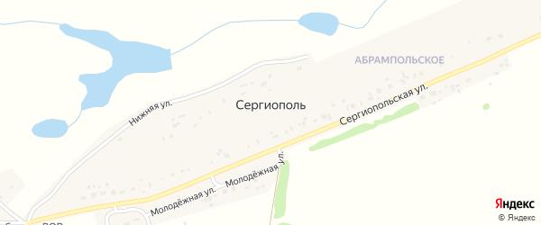 Центральная улица на карте деревни Сергиополя с номерами домов