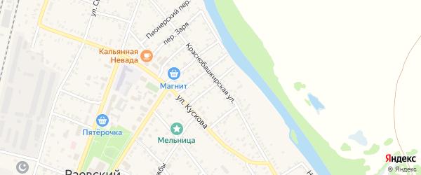 Уральский переулок на карте села Раевского с номерами домов