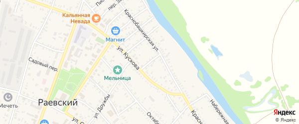 Оренбургский переулок на карте села Раевского с номерами домов