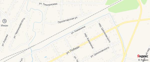 Улица Каманина на карте Янаула с номерами домов