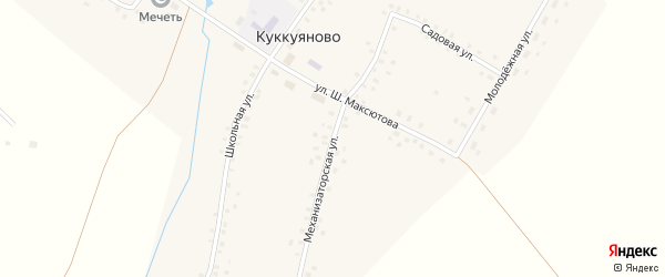 Механизаторская улица на карте села Куккуяново с номерами домов