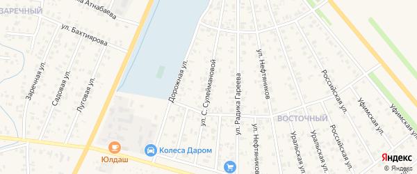 Улица С.Сулеймановой на карте Янаула с номерами домов