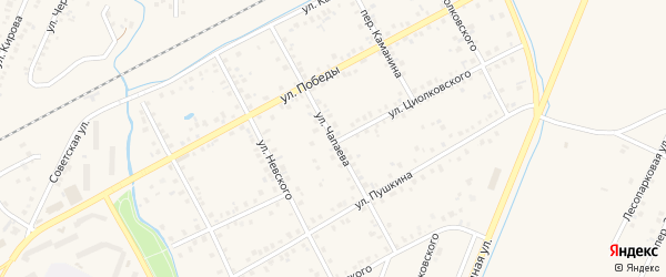 Улица Чапаева на карте Янаула с номерами домов