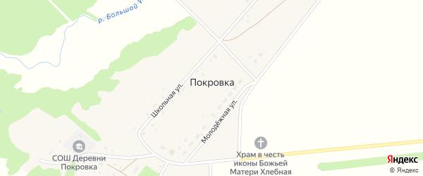 Молодежная улица на карте деревни Покровки с номерами домов