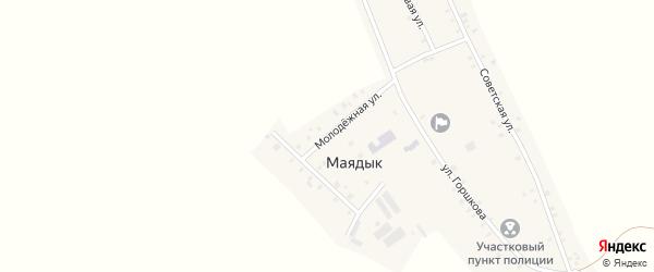 Молодежная улица на карте села Маядык с номерами домов